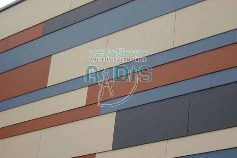 فایبرسمنت برد در نمای ساختمان