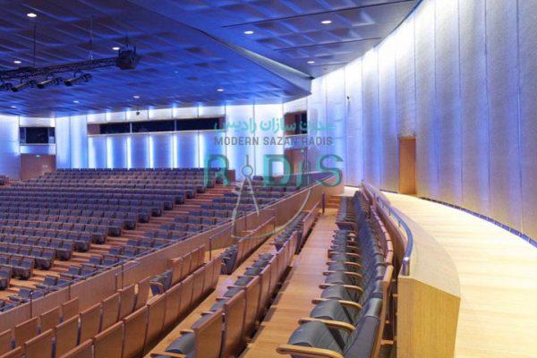 طراحی فضای داخلی سالن همایش با فایبر سمنت برد