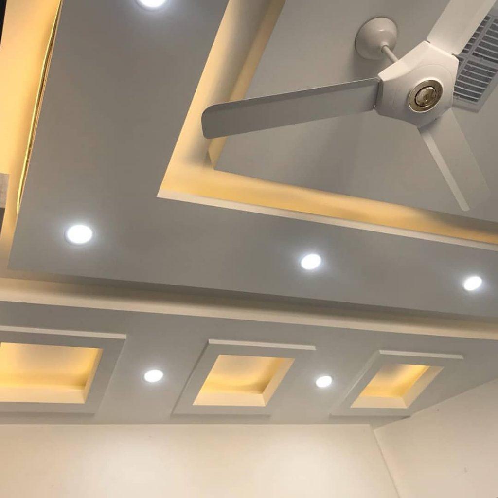 کناف سقف پذیرایی مدرن و زیبا