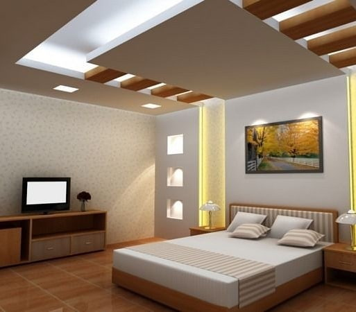 طراحی کناف سقف اتاق خواب