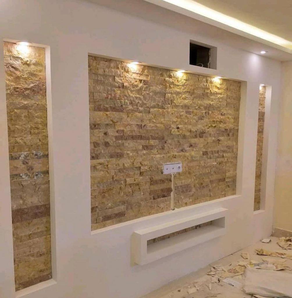 نمونه اجرای کناف روی دیوار