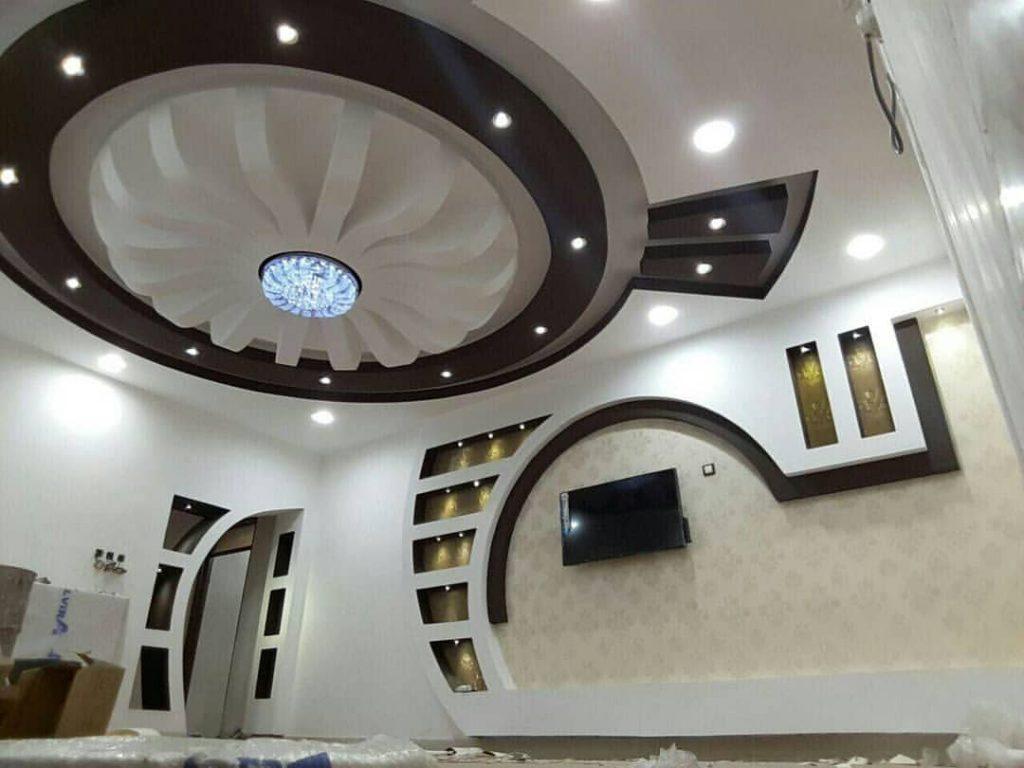 طراحی و دیزاین دیوار پشت تلویزیون با کناف