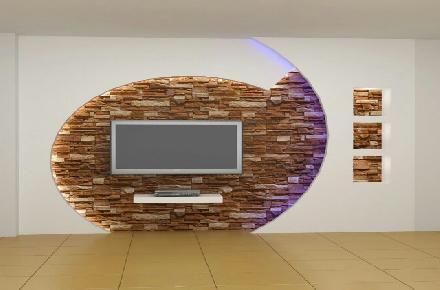 ایده های جدید از دیوار کناف پشت تلویزیون