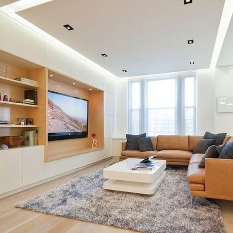 نمونه هایی از سقف کناف پذیرایی با نورپردازی متنوع