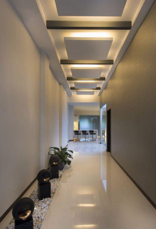 6 ایده مدرن نورپردازی سقف با کناف