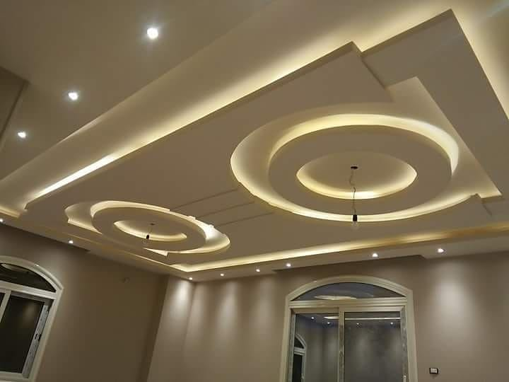 10نمونه از بهترین نورپردازی های کناف سقف