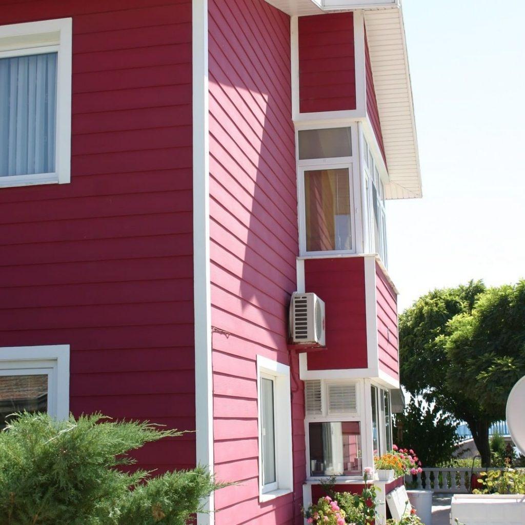 اجرای نمای ساختمان با فایبر سمنت رنگی