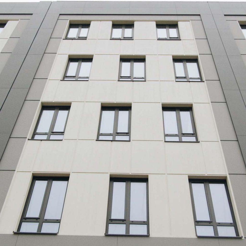 اجرای نمای ساختمان های مرتفع با فایبر سمنت