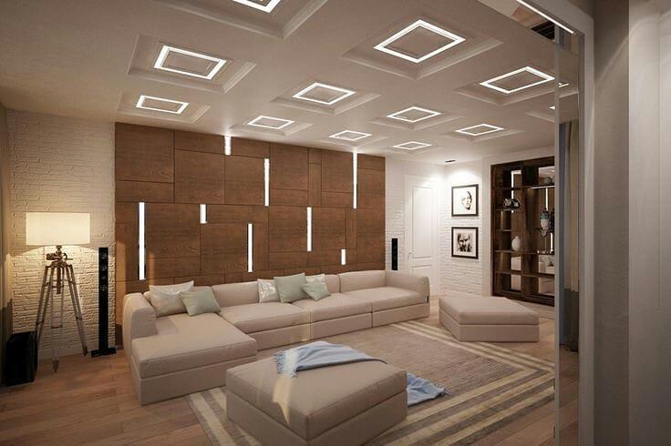 کناف با طرحی شیک و زیبا برای تزیین سقف