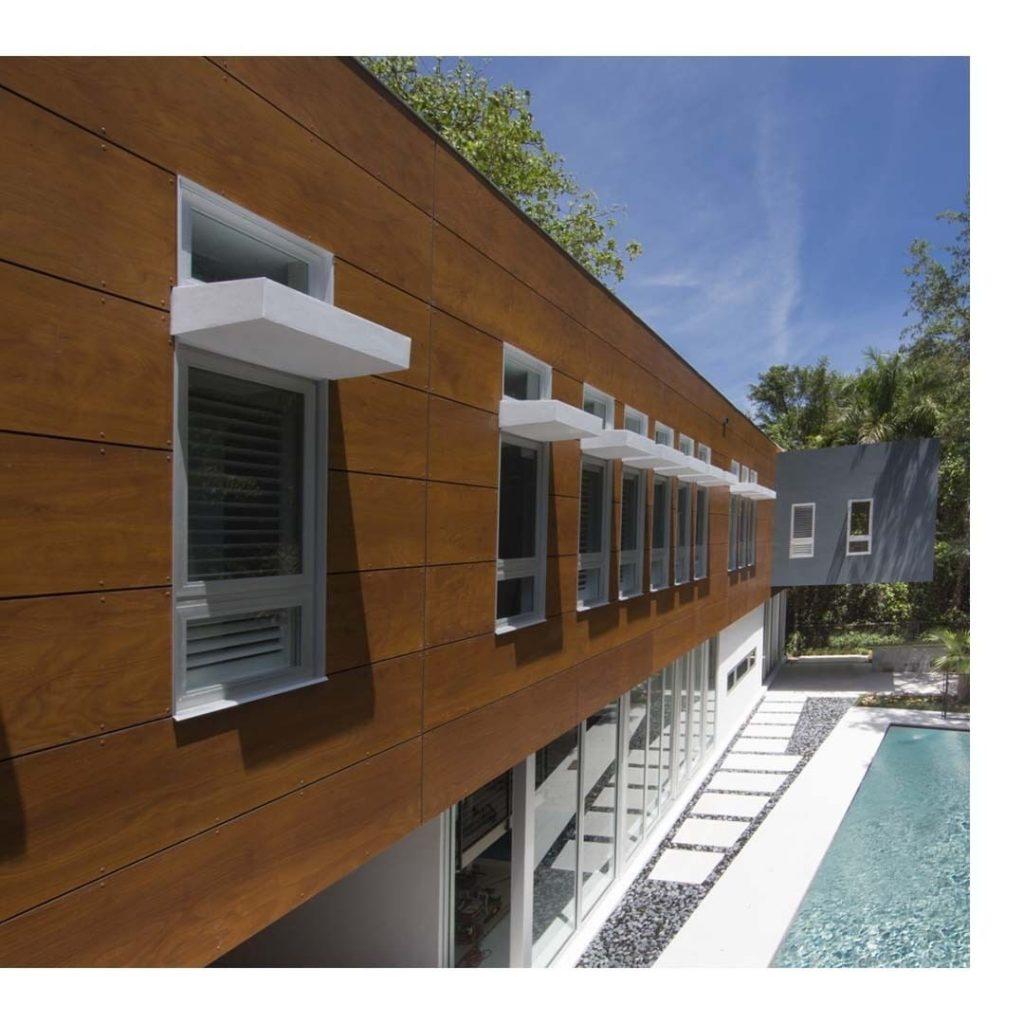 ایده های مدرن طراحی ساختمان با فایبرسمنت طرح چوب