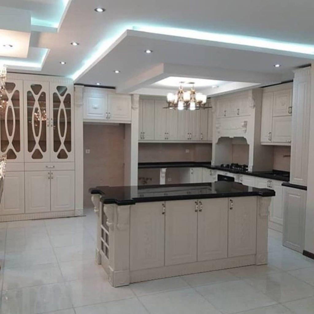 کناف آشپزخانه با طرح های ساده و خلوت