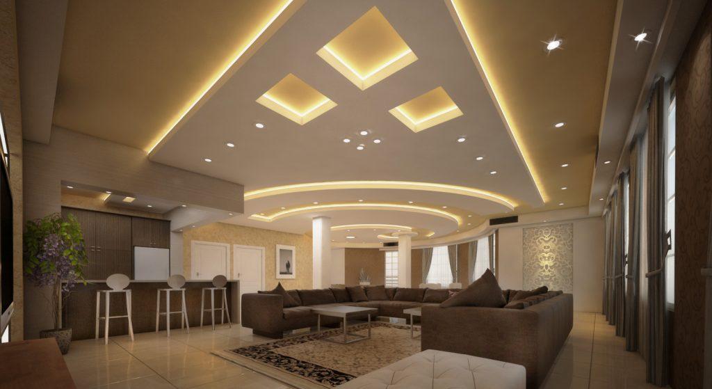 ایده های خیره کننده برای طراحی سقف کناف