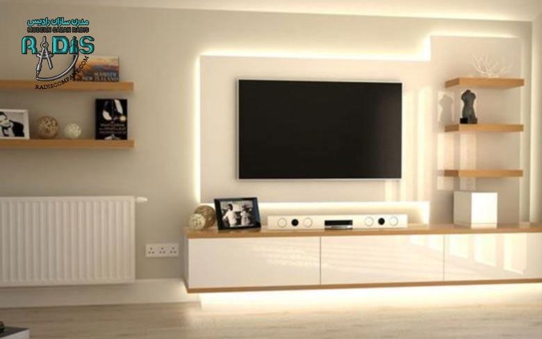 کناف پشت تلویزیون