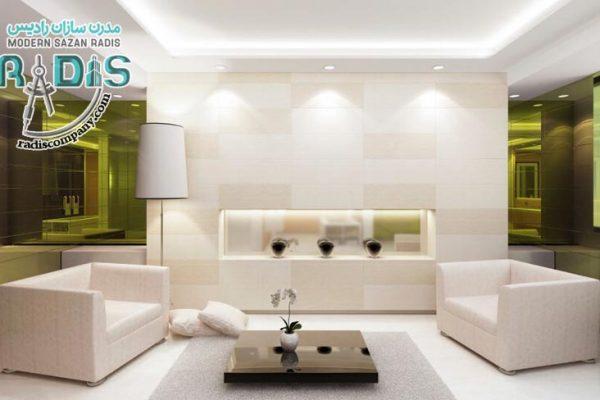9 طرح فوق العاده از کناف سقف پذیرایی