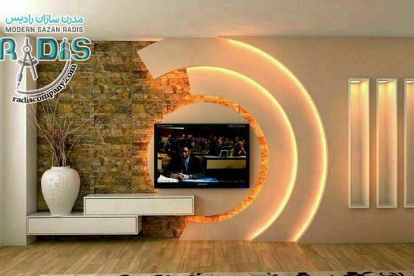 طرح خلاقانه و جدید کناف پشت تلویزیون