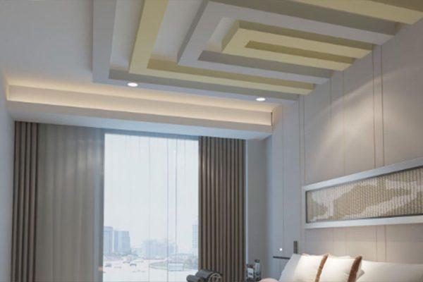 کناف ساده سقف پذیرایی